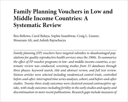 Family Planning Vouchers