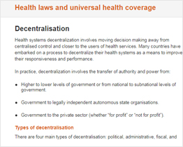 Health Laws and Universal Health