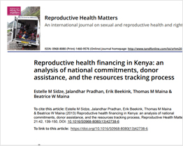 Reproductive health financing in Kenya
