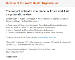 Impact of Health Insurance