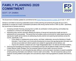 Zambia  FP2020 Commitment